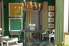 Emerald Lacquer Sitting Room by Thom Filicia