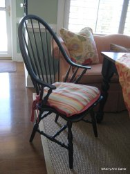 Custom chair pads for the Windsor chairs