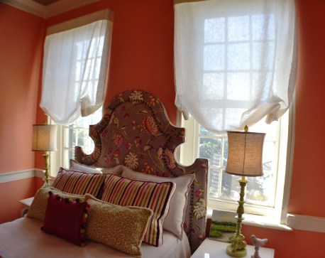 London Shades and Regency Headboard