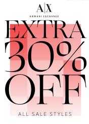 Armani exchange 30% off