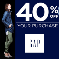 Gap 40% off