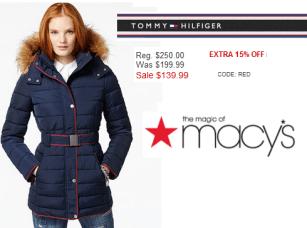 Macy's Hilfiger coat