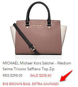 Bloomingdale's Michael Kors bag