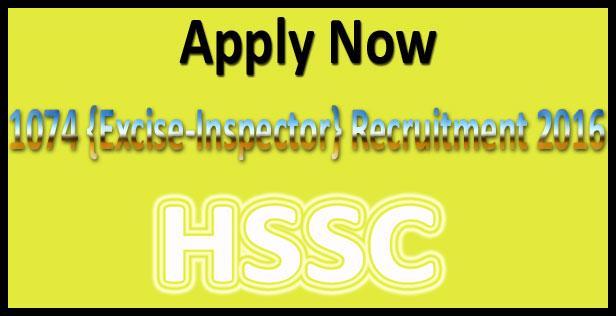 HSSC taxation inspector recruitment 2016