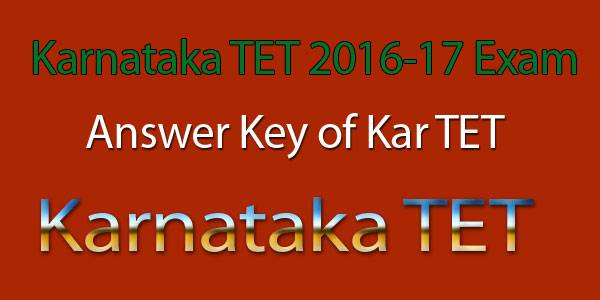 Karnataka TET Answer key 2017