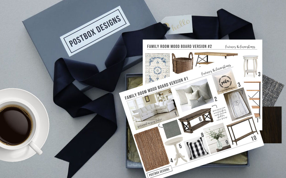 Postbox Designs Interior E-Design room makeovers, interior designer