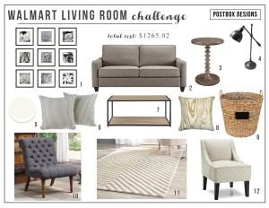 Walmart Living Room Budget Design Challenge