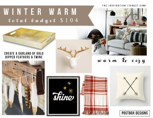 Warm Winter Room Update for only $104! (plus a free printable!)