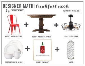 Designer Math Monday: Breakfast Nook