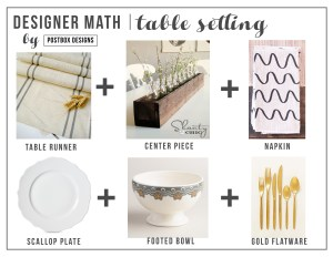 Designer Math Monday: Table Setting