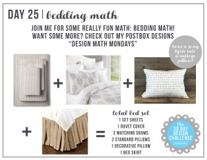 30 Day Design Challenge: Day 25 Create the Perfect Bedding