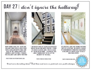 30 Day Design Challenge: Day 27 Don't Ignore Your Hallway!