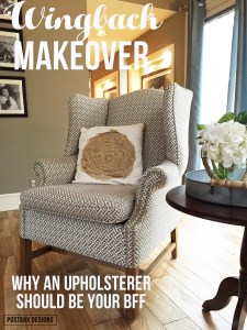 Wingback Chair Make-over: Why An Upholsterer Should Be Your New BFF!