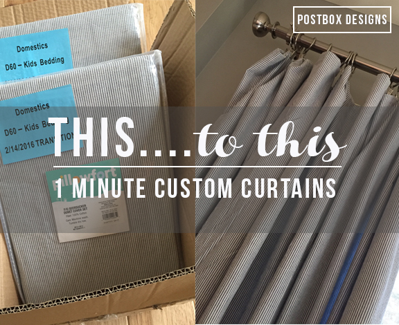 1 min custom curtains, Postbox designs