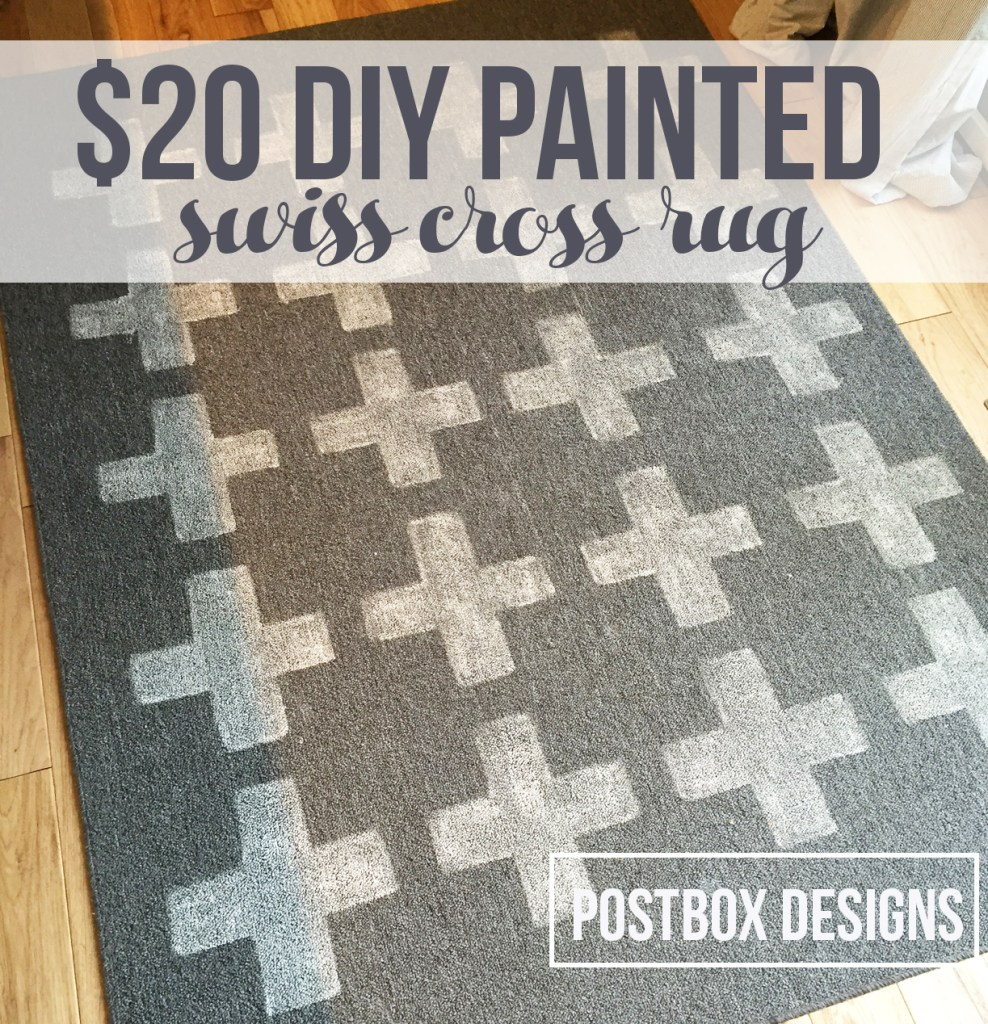 $20 Swiss Cross Rug Tutorial by Postbox Designs