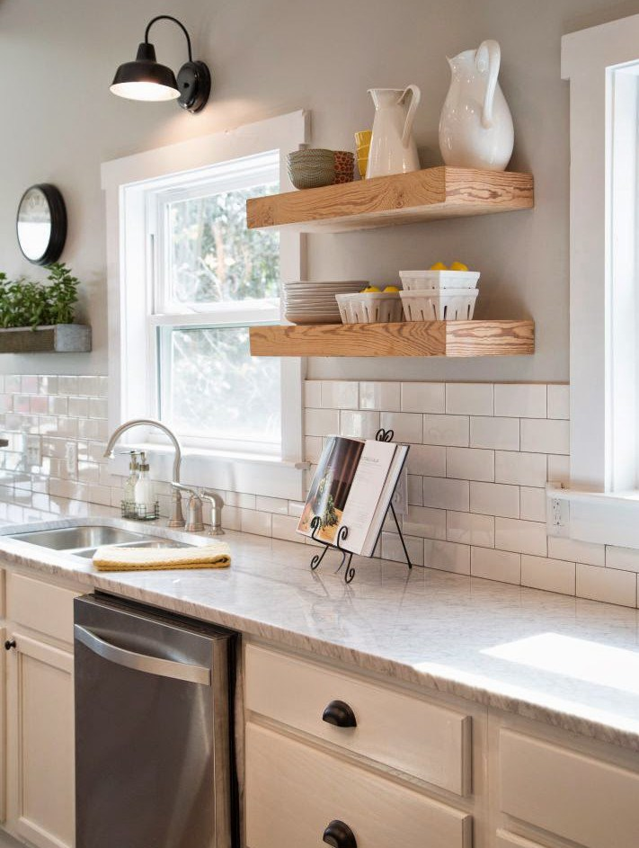 Fixer upper style kitchen real postbox project for a for Magnolia farms design ideas