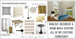 How To Makeover a Room Keeping Your Existing Furniture: A Real Postsbox Project!