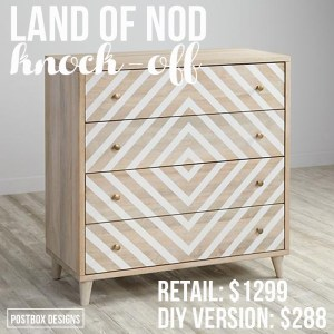 $288 DIY Land of Nod Dresser Knock-Off Tutorial