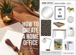 Create the Perfect Home Office Design In Minutes+ Free Shopping List