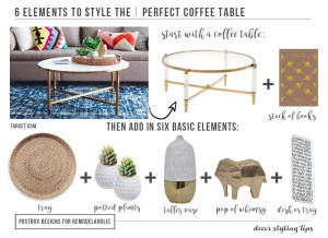 Coffee Table Styling Cheat Sheet: In 6 Easy Steps