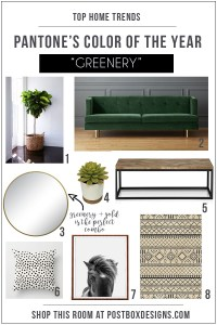 Shop This Room Trend: Pantone 2017 Color of the Year: Greenery