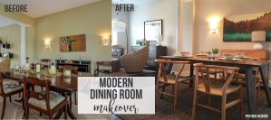 Modern Dining Room Makeover Reveal + 1 Minute Easy Centerpiece!