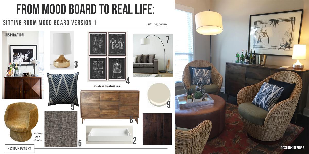 Boho Chic Living Room + Home Bar By Postbox Designs, West Elm, All Modern