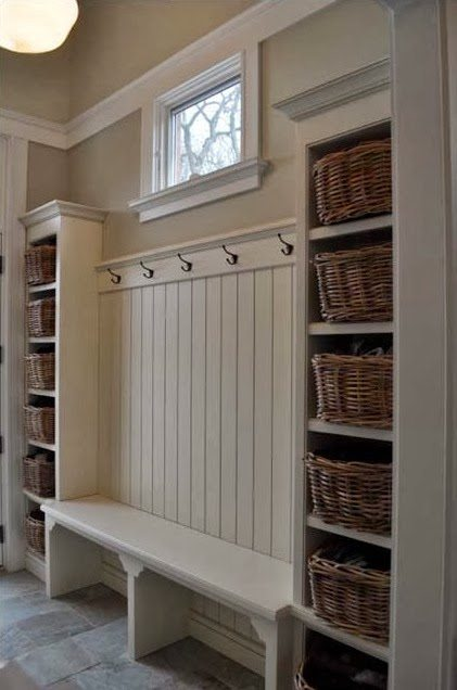 How To Create a Mudroom When You Don't Have One by Postbox Designs, lockers, command center, mudroom ideas, mudroom design