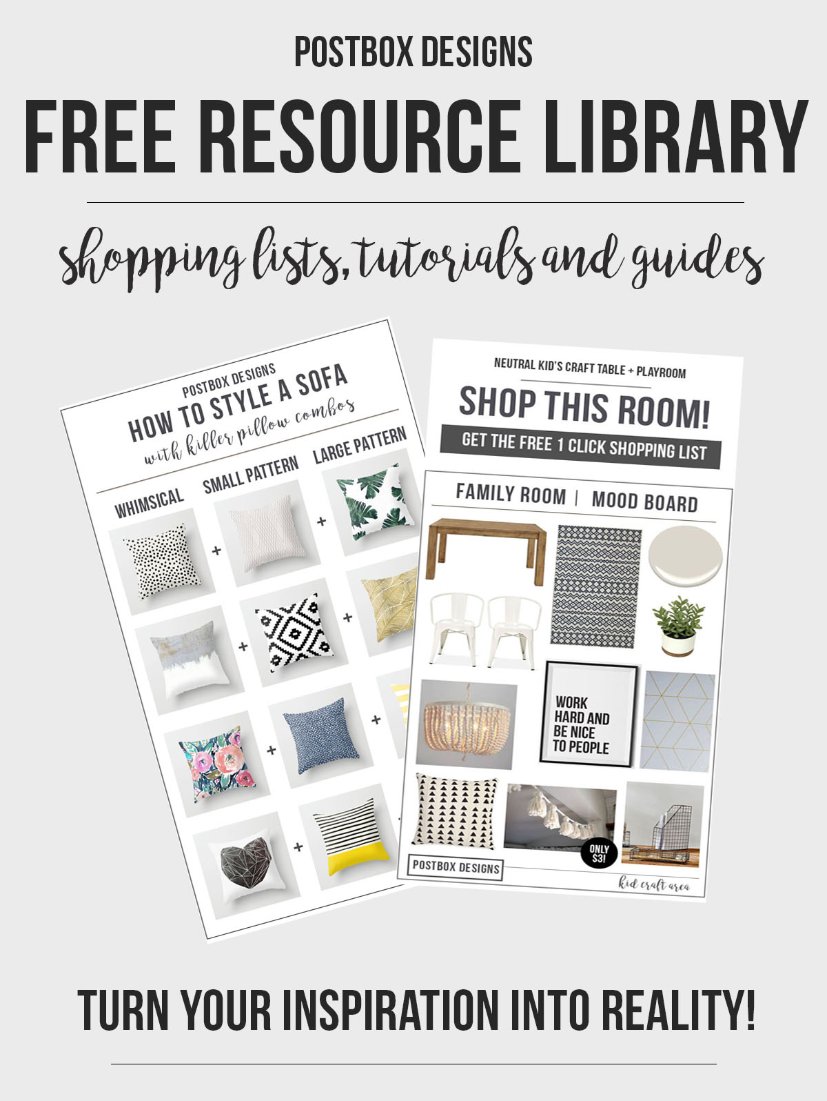 Interior Design Freebie Library Printables