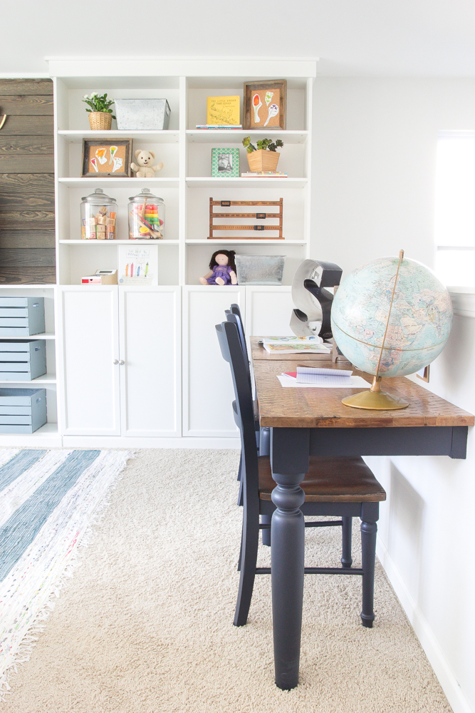 Farmhouse Style Kid's Homework Center + Command Center by Postbox Designs, E-Design