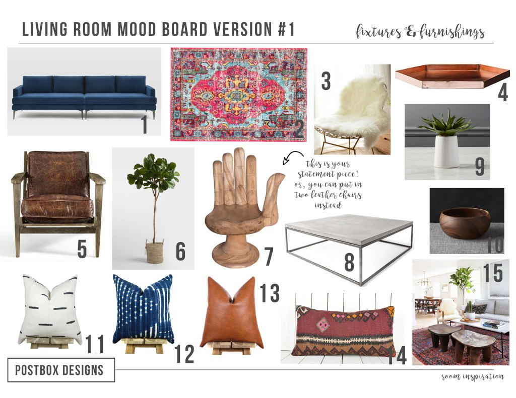 Postbox Designs Interior E Design Rustic Meets Modern Boho Living Room Online