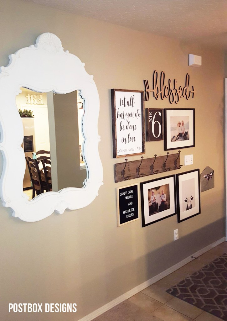 Postbox Designs Interior E-Design: Update your Hallway with a Farmhouse Gallery Wall, Budget Friendly Room Makeovers, Online Interior Design