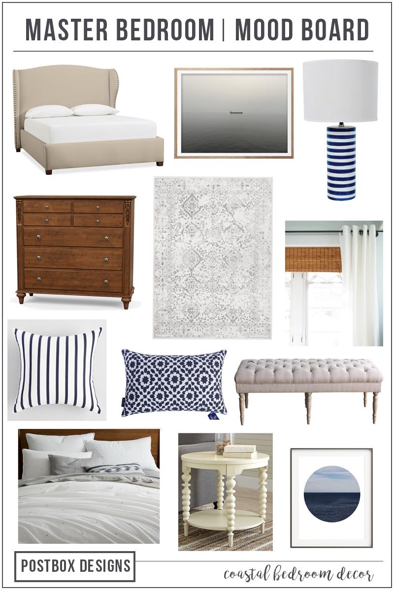 Postbox Designs Interior E Design: Coastal Master Bedroom Makeover, Coastal  Bedroom Decor,