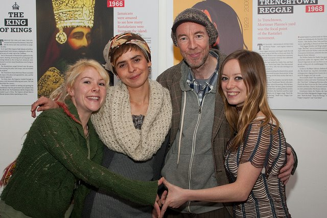 Exhibition crew - Claire Davey PFP graphics, Paula Strzelecka exhibition designer, Ronan Lynch exhibition currator, Freda Hughes PFP founder/coordinator