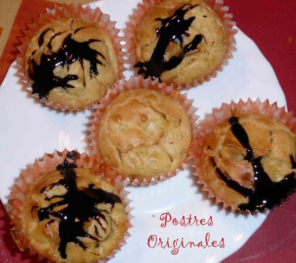 Magdalenas de foie y manzana