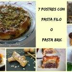 Postres con Pasta Filo – ¿Con cuál te quedas?