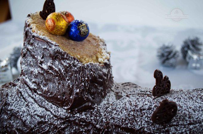 Tronco de Navidad Relleno de Castañas