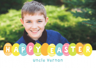 happy easter egg personalised greeting card