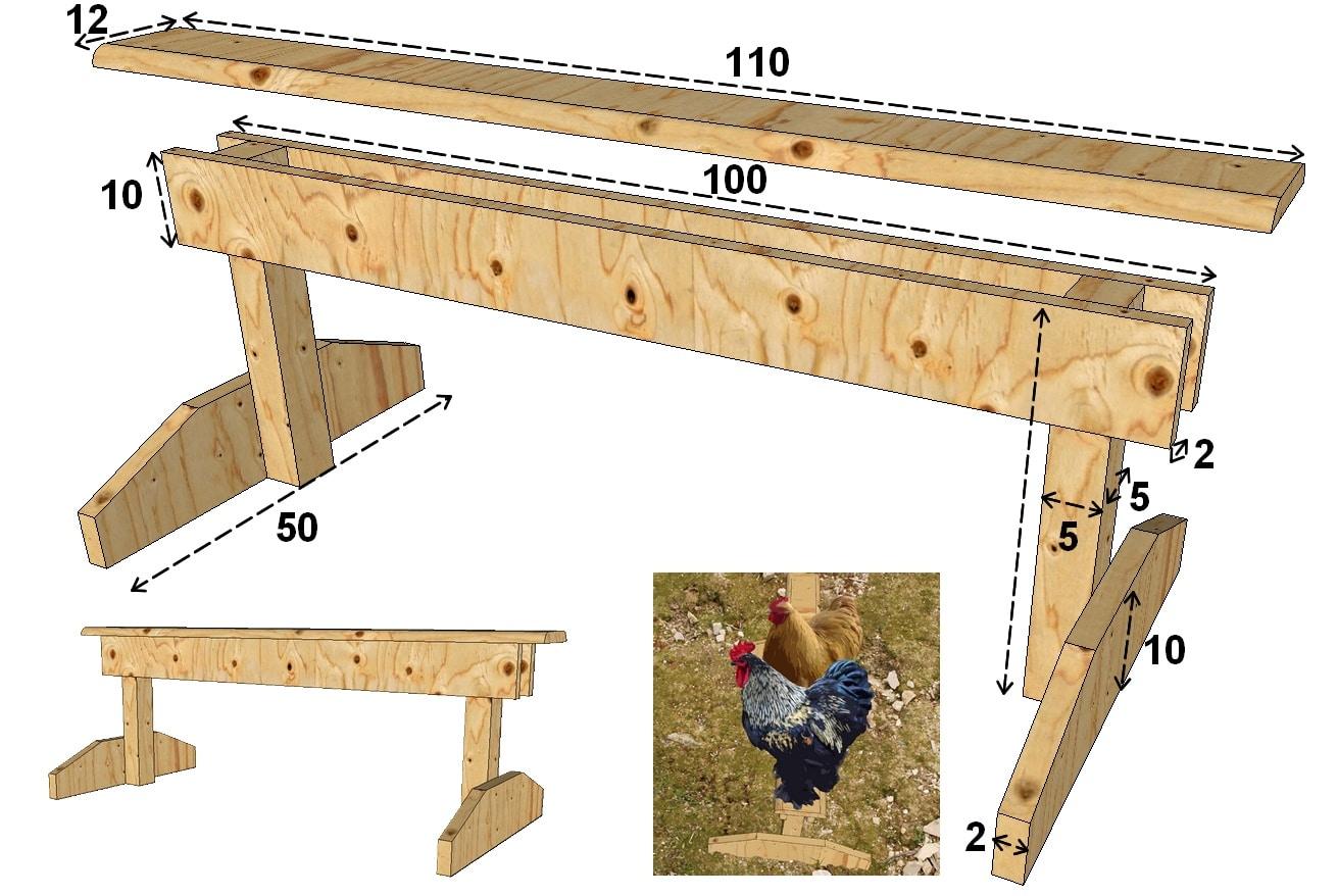 Construire Des Perchoirs Pour Poules Mod 232 Les Poulailler Bio