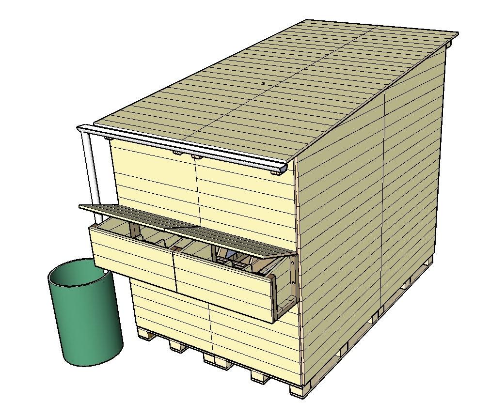 construction d 39 un poulailler en palettes modulable plan poulailler bio. Black Bedroom Furniture Sets. Home Design Ideas