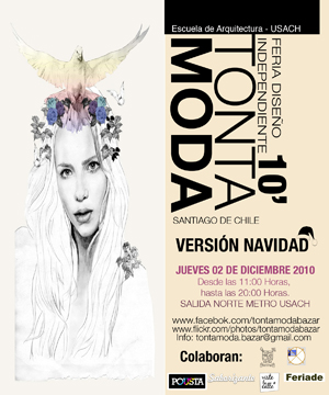 afiche 8 Tonta Moda Bazar versin Navidad (CL)
