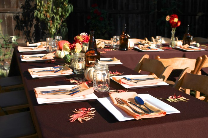Table settings for the Festa Autunno