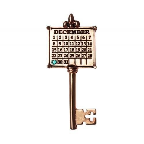 Calendar Key Necklace