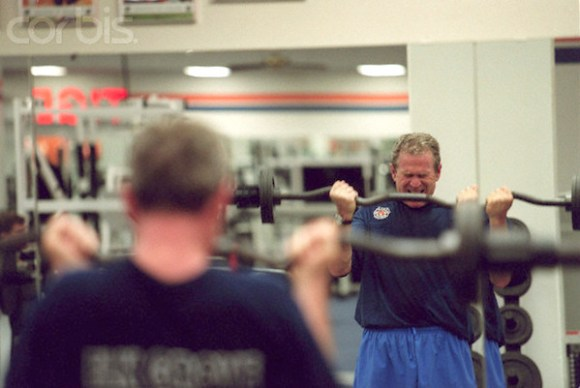 George W. Bush Lifting Weights