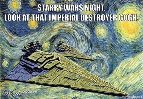 Van Gogh Star Wars copy
