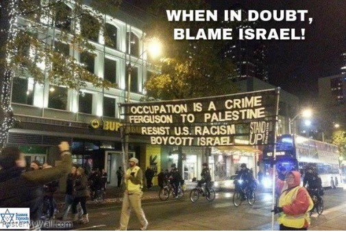 It's always Israel's fault.