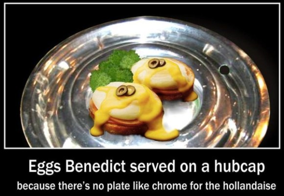 Eggs Benedict on Hubcaps copy