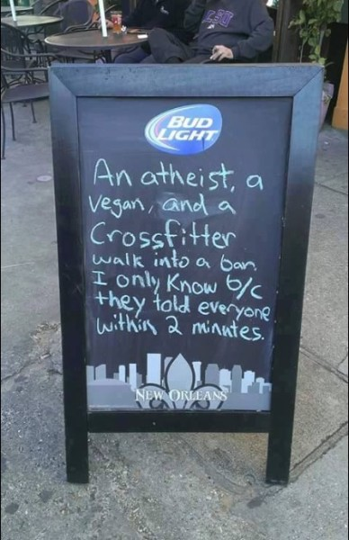 Vegan Crossfitter joke copy