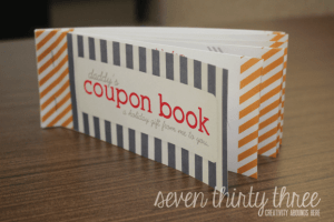 This darling coupon book is something fun that children can give to their parents--but we could also make a book like this to give to our CHILDREN.