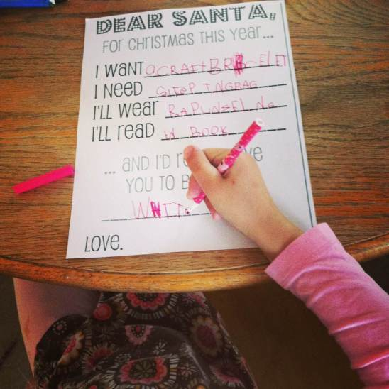 """Many families are finding the """"Want, need, wear, read"""" theme works great when asking Santa for gifts. Read this full article for more ideas (and join in the conversation!)."""